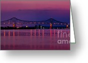 Barry Greeting Cards - Nitetime Barry Bridge Greeting Card by Nick Zelinsky