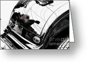 Hotrod Photo Greeting Cards - No. 1 Greeting Card by Luke Moore