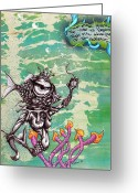 Sea Life Mixed Media Greeting Cards - No Breathing Apparatus Greeting Card by Iosua Tai Taeoalii