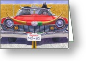Horns Painting Greeting Cards - No B.S. Greeting Card by Catherine G McElroy