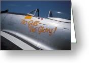 Eto Greeting Cards - No Guts - No Glory P-47 Greeting Card by Don Struke