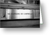 Entrance Door Greeting Cards - no hawkers or campbells sign in the clachaig inn site of the massacre of glencoe Scotland UK  Greeting Card by Joe Fox