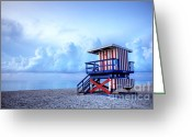 Williams Photo Greeting Cards - No Lifeguard on Duty Greeting Card by Martin Williams