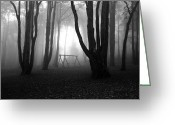 Scary Photo Greeting Cards - No mans land Greeting Card by Jorge Maia
