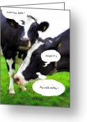 Joke Greeting Cards - No Milk today Greeting Card by Stefan Kuhn