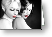 Sensual Digital Art Greeting Cards - No More Secrets Greeting Card by Alexander Butler