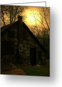 Cabin Wall Greeting Cards - No One Is There Greeting Card by Nina Fosdick