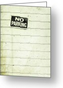 Lines Greeting Cards - No Parking Greeting Card by Priska Wettstein