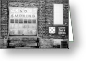 Feed Greeting Cards - No Smoking Greeting Card by Jame Hayes