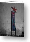 Power Lines Greeting Cards Greeting Cards - No Tell Motel Greeting Card by Jerry Cordeiro