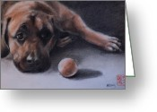 Laying Down Greeting Cards - No Time to Play Greeting Card by MaryAnn Cleary