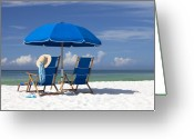 Seaside Greeting Cards - No Worries Greeting Card by Janet Fikar