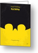 Gotham City Greeting Cards - No008 My Batman minimal movie poster Greeting Card by Chungkong Art
