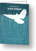 Los Angeles Greeting Cards - No011 My Blade Runner minimal movie poster Greeting Card by Chungkong Art
