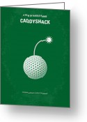 Harold Greeting Cards - No013 My Caddy Shack minimal movie poster Greeting Card by Chungkong Art