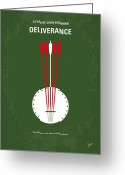 Burt Reynolds Greeting Cards - No020 My Deliverance minimal movie poster Greeting Card by Chungkong Art