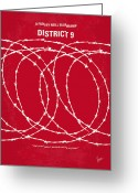 Science Fiction Digital Art Greeting Cards - No023 My district9 minimal movie poster Greeting Card by Chungkong Art