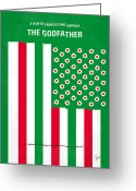 Italian American Corleone Crime Family Greeting Cards - No028 My Godfather minimal movie poster Greeting Card by Chungkong Art