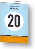 Ferrari Digital Art Greeting Cards - No038 My Le Mans minimal movie poster Greeting Card by Chungkong Art