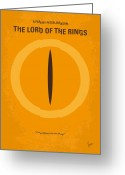 Best Greeting Cards - No039 My Lord of the Rings minimal movie poster Greeting Card by Chungkong Art