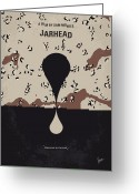 Camp Greeting Cards - No045 My Jarhead minimal movie poster Greeting Card by Chungkong Art