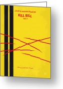 Kill Greeting Cards - No049 My Kill Bill-part2 minimal movie poster Greeting Card by Chungkong Art