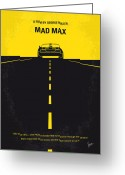 Biker Greeting Cards - No051 My Mad Max minimal movie poster Greeting Card by Chungkong Art
