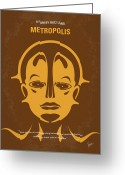 Utopia Greeting Cards - No052 My Metropolis minimal movie poster Greeting Card by Chungkong Art