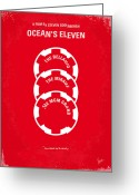 Graphic Greeting Cards - No056 My Oceans 11 minimal movie poster Greeting Card by Chungkong Art