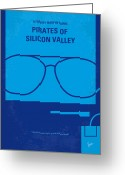 Graphic Greeting Cards - No064 My Pirates of Silicon Valley minimal movie poster Greeting Card by Chungkong Art
