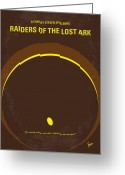 Graphic Greeting Cards - No068 My Raiders of the Lost Ark minimal movie poster Greeting Card by Chungkong Art