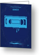 Friend Digital Art Greeting Cards - No070 My Ringu minimal movie poster Greeting Card by Chungkong Art