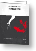 Francis Digital Art Greeting Cards - No073 My Rumble fish minimal movie poster Greeting Card by Chungkong Art