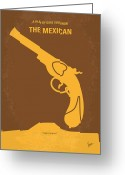 Julia Digital Art Greeting Cards - No077 My THE MEXICAN minimal movie poster Greeting Card by Chungkong Art