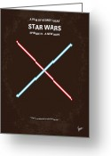 Motion Picture Greeting Cards - No080 My STAR WARS IV movie poster Greeting Card by Chungkong Art