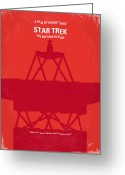 Movie Poster Greeting Cards - No081 My Star Trek 1 minimal movie poster Greeting Card by Chungkong Art