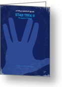 Movie Poster Greeting Cards - No082 My Star Trek 2 minimal movie poster Greeting Card by Chungkong Art