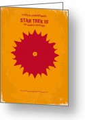 Movie Poster Greeting Cards - No083 My Star Trek 3 minimal movie poster Greeting Card by Chungkong Art