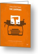 Movie Poster Greeting Cards - No094 My The Shining minimal movie poster Greeting Card by Chungkong Art