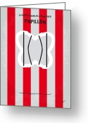Graphic Greeting Cards - No098 My Papillon minimal movie poster Greeting Card by Chungkong Art