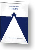 Graphic Greeting Cards - No100 My Titanic minimal movie poster Greeting Card by Chungkong Art