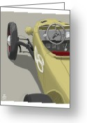 Hot Rod Drawings Greeting Cards - No.8 Greeting Card by Jeremy Lacy