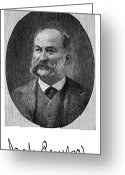 Autograph Greeting Cards - Noah Brooks (1830-1903) Greeting Card by Granger