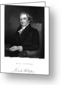 Autograph Greeting Cards - Noah Webster (1758-1843) Greeting Card by Granger