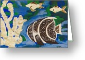 Aquarium Painting Greeting Cards - Noahs Aquarium Greeting Card by Marsha Heiken