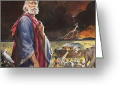 Two By Two Greeting Cards - Noahs Ark Greeting Card by James Edwin McConnell