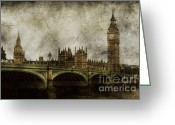 London England  Digital Art Greeting Cards - Noble Attributes Greeting Card by Andrew Paranavitana