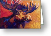Animal Greeting Cards - Noble Pause Greeting Card by Marion Rose
