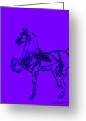 Ocean Art Greeting Cards - Noble Steed Greeting Card by Ocean