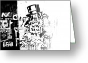 Nyc Graffiti Greeting Cards - Nobody Greeting Card by Lindsey Lawson
